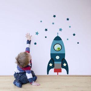 Stickerscape tre mis  feu fusée sticker mur par  Autocollants Bleu (Ensemble d'autocollant ordinaire) - Publicité