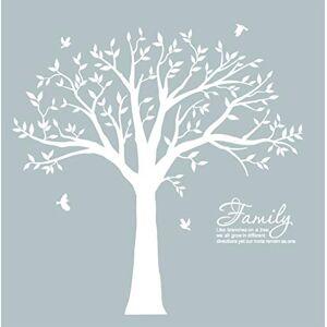 BDECOLL Géant de décorations d'arbre de photos de stickers arbre blanc bebe ( le cadre photo non inclus) - Publicité