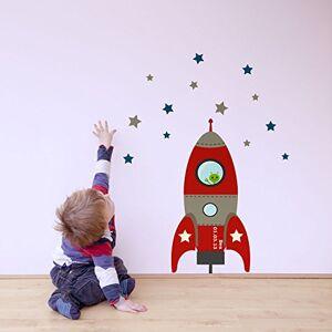 Stickerscape tre mis  feu fusée sticker mur par  Autocollants Rouge (Ensemble d'autocollant ordinaire) - Publicité