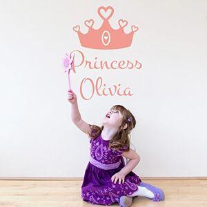 Stickerscape Couronne de princesse personnalisé sticker mur par  Autocollant (Ensemble d'autocollant grande) - Publicité
