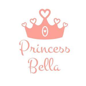 Stickerscape Couronne de princesse personnalisé sticker mur par  Autocollant (Ensemble d'autocollant trs grande) - Publicité