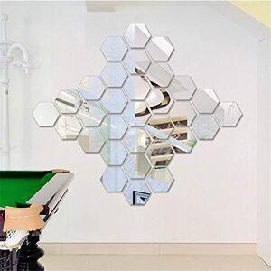 N/B Hexagonal 3D Miroir Stickers Muraux Restaurant Allée Escaliers Personnalisé Décoratif Miroir Autocollants Cadre Hexagonal Stickers Muraux 184 * 160 * 92Mm - Publicité