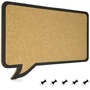 Navaris Tableau d'affichage en Lige Tableau Lige 44x29 cm Sans Cadre Panneau Mémo en Forme de Bulle de BD Avec Support Mural et 5 Punaises - Publicité