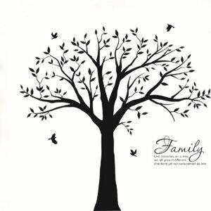 BDECOLL Géant de décorations d'arbre de photos de famille autocollant de vinyle de décoration murale  la paroi de base de l'art de la famille de paroi de la chambre(le cadre photo non inclus)(noir) - Publicité