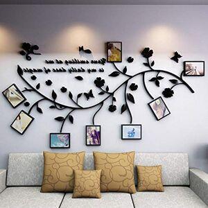 N/B Creative Combinaison De Cadre Photo 3D Stéréo Stickers Muraux Salon Chambre Canapé Fond Décoration Murale Murale Photo Arbre Photo Mur L: Largeur 2,5 * Hauteur 1,34 M Noir Droit - Publicité