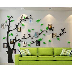guangmu Arbre Sticker Muraux 3D Autocollants DIY Famille Cadre de Photo Stickers Mural Arts Décoration pour Garderie, Chambre, Salon, Chambre, Bureau (G Vert Droite,M: 150 * 210CM) - Publicité