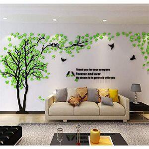 guangmu Stickers Muraux Arbre Cadre de Photo 3D DIY Mural Autocollants Arts Décoration de la Maison pour Chambre, Salon, Chambre Enfants, Garderie, Salle, Garderie, Cadeau (Vert Gauche,XL) - Publicité