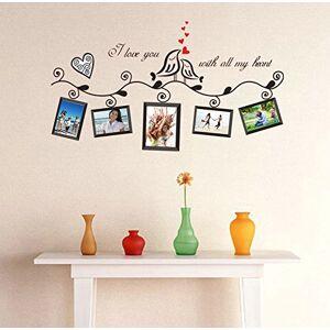 Wallpark Amour Oiseaux Cur Arbre Vine Cadres photo Amovible Stickers Muraux Autocollants, Salon Enfants Chambre Pépinire DIY Décoratif Adhésif Stickers Mural - Publicité