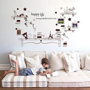 Wallpark Mignon Peu Ours tagre  livres Cadre photo Amovible Stickers Muraux Autocollants, Salon Enfants Chambre Pépinire DIY Décoratif Adhésif Stickers Mural - Publicité