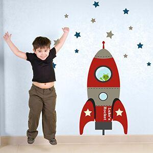 Stickerscape tre mis  feu fusée sticker mur par  Autocollants Rouge (Ensemble d'autocollant grand) - Publicité