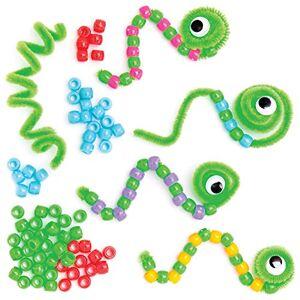 Baker Ross Kits de chenilles en Perles (Paquet de 10) -Loisirs créatifs pour Enfants, AT607 - Publicité