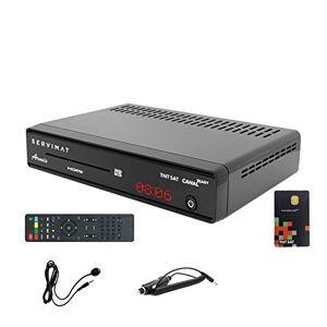 Servimat Récepteur Satellite HD + Carte TNTSAT V6 + Cble 12V + Déport IR - Publicité