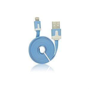 Mgs33 USB Câble Plat pour iPhone/iPhone 5/iPad Mini Max iOS 6.1.3et Plus Bleu - Publicité