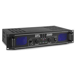 SkyTec SPL 2000 Amplificateur 2 x 1000 W EQ, Egaliseur 3 bandes intégré, Audio 2.0, 3x RCA, 3,5mm en faade, Rendu audio optimal, Idéal pour la Hifi, Parfait pour les DJs confirmés - Publicité