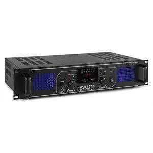 Skytec SPL700MP3 Amplificateur professionnel, 2X 350 Watts Noir, SD, MP3, USB idéal pour une utilisation mobile, DJ, HIFI, Home Cinéma - Publicité