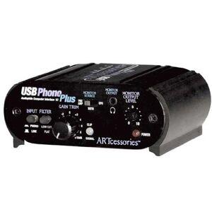 ART Plus PS Phono/Line Préampli Phono USB avec USB - Publicité