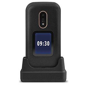 Doro 6060 Téléphone Portable 2G Dual SIM  Clapet Débloqué pour Seniors avec Affichage Externe, Grandes Touches, Touche d'Assistance avec GPS et Socle Chargeur Inclus (Noir) [Version Franaise] - Publicité