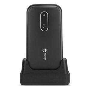 Doro 6620 Téléphone Portable 3G  Clapet Débloqué pour Seniors avec Grandes Touches, Touche d'Assistance avec GPS et Socle Chargeur Inclus (Noir) [Version Franaise] - Publicité