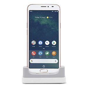 """Doro 8080 Smartphone 4G Débloqué pour Seniors avec cran de 5.7"""", Caméra de 16MP, Touche d'Assistance avec Géolocalisation et Socle Chargeur Inclus (Blanc) [Version Franaise] - Publicité"""