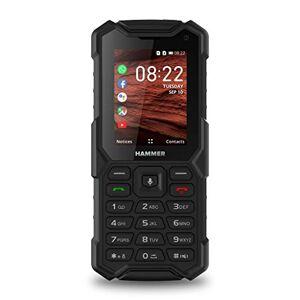 Hammer H 5 Smart 4G KaiOS (Whatsapp, Facebook, Google Apps), Téléphone Portable Incassable Débloqué IP68 Résistant Etanche Antichoc, Dual SIM, ROM 4Go, GPS, Batterie 2500 mAh Noir - Publicité