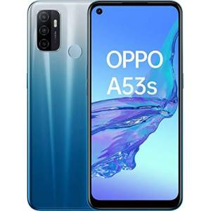 Oppo A53s Bleu Fantaisie 128 Go 4 Go de RAM  cran Immersif 90Hz Batterie 5000 mAh Double Haut-Parleur Stéréo Triple Caméra avec IA USB-C Android 10 Smartphone débloqué 4G - Publicité