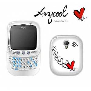 ANYCOOL TEL.CELL.  CHERY WHITE SWEET YEARS DUAL SIMclavier QWERTY-SLIDE - Publicité