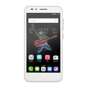 Alcatel Go Play smartphone débloqué 4G (Ecran : 5 pouces 4 Go 1 Go RAM Waterproof IP67 Android Lollipop 5.0.2) Blanc/Orange - Publicité