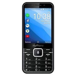 """MP myPhone myPhone Up Smart Téléphone Portable avec Whatsapp, Facebook, Google Apps, 3.2"""", Batterie 1200 mAh, Double Sim, GPS, 4GB ROM, Appareil Photo 5MP, KaiOS, Wi-FI, 3G Noir - Publicité"""