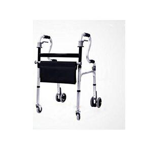 KOKOF Scooters plus âgés,Personnes âgées Walker pliable Roller Walker poignée réglable, Walker léger avec siège pliant bâton de marche à quatre pattes pour le marcheur âgé en aluminium-1 - Publicité