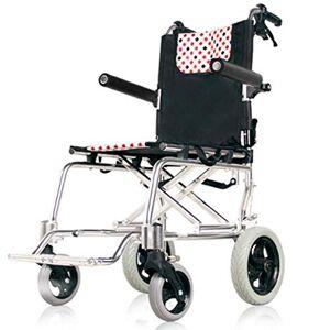 YASE-king Fauteuil roulant pliant léger, épais en alliage d'aluminium léger fauteuil pliant pliable ultra léger Vieillard chariot Vieillard Scooter portable compact de conduite médicale Fdg - Publicité
