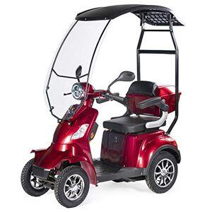 VELECO Scooter lectrique 4 Roues Pour Senior/Handicapés 1000W FASTER (Rouge avec un toit) - Publicité