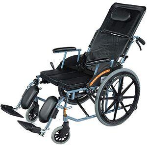 LKK-KK Aluminium fauteuil roulant léger et pliable Fauteuil roulant manuel à haut dossier, Full Reclining Scooter avec siège for les personnes âgées et des personnes dans le besoin - Publicité