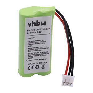 vhbw Batterie NI-MH 600mAh Compatible pour Philips Xalio 300 / Xalio 300 DECT/Kala Vox 300 / Kala Vox 300 Duo/Kala 3322 / Kala 3350 remplace H-AAA500X2 - Publicité