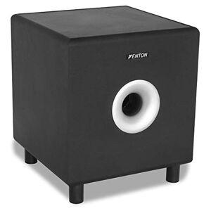 """Fenton SHFS10B Caisson de Basse Amplifié 10"""" Noir, 200W, Subwoofer Actif, 20  200 Hz, Bass-Reflex, Fréquence Crossover réglable, Caisson de Basse pour Home Cinéma ou HiFi - Publicité"""
