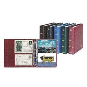 Lindner Album pour cartes postales Postcard LOTOS, Noir, avec 50 feuilles ( 5800-S) - Publicité