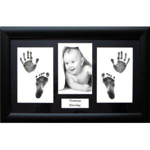 Anika-Baby Babyrice Cadre avec passe-partout  personnaliser avec empreintes de pieds et de mains d'enfant Noir Env. 37 x 21,5cm - Publicité
