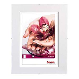 """Hama Cadre photo """"Clip-Fixe"""" (sans bordure, 40 x 50 cm, Anti-Reflex) Blanc - Publicité"""