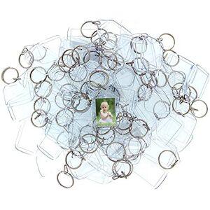 Kurtzy Porte-Clés Photo en Acrylique (50 Pcs) 3,4 x 5,4cm Porte Clé Vierge Transparent Porte Clef Compatibles avec Portefeuilles pour Photo Personnalisés Insérer Porte-Clé pour Hommes, Femmes - Publicité