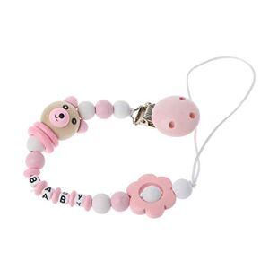 zhangaoyo zhangyo bébé sucette pince sucette chane panda forme fait  la main perles mignonnes factice pince porte-tétine bébé pour bébé enfant - Publicité