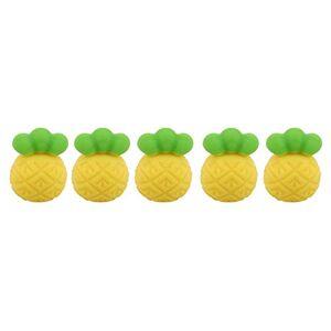 ZALING Silicone Ananas Perles Bébé Aneth Jouet Sucette DIY Collier Bracelet Creative Safe Dents Jaune - Publicité