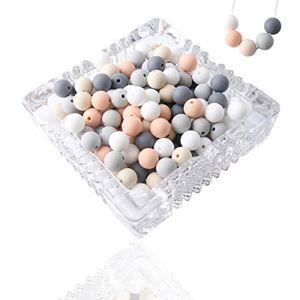 let's make Perles de Dentition en Silicone Bébé Collier D'allaitement Bricolage pour Enfants 12mm 100pc - Publicité