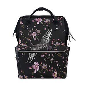 Buyxbn Grues Cherry China Sac à langer Motif floral Noir - Publicité