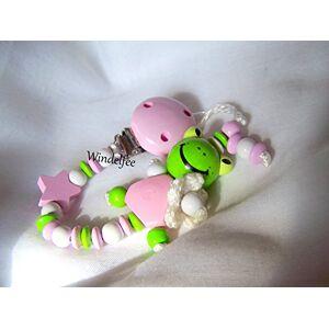 Windelfee Sucette avec nom, grenouille, fille, cadeau de naissance, baptême, baby shower... Publicité