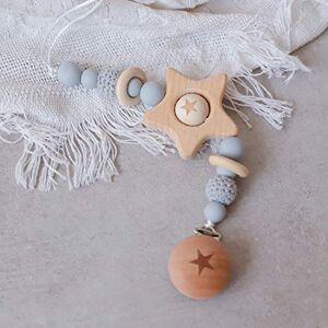 Mamimami Home 1pc Perles De Silicone Bébé Anneau De Dentition Gris Perles De Crochet En Bois Anneau Jouets De Dentition Pour Bébés - Publicité