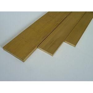 B&T Metall Laiton plat CuZn39Pb3 (MS58)   Barre plate massive   Dimensions (H x l) : 2 x 15 mm, longueur : env. 1 m - Publicité
