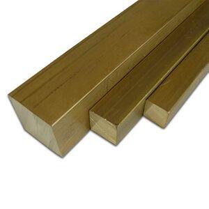B&T Metall Barres carrées en laiton MS 58 15 x 15 mm Longueur : env. 15 cm (150 mm +0/- 5 mm). Publicité