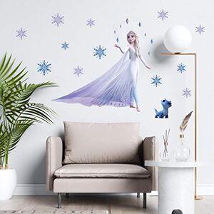 Greneric Bande dessinée reine Elsa flocon de neige congelé 2 film Stickers muraux pour chambre d'enfants décoration de la maison bricolage fille chambre Anime Mural Pvc affiche - Publicité