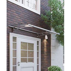 Schulte 4037563123897 Auvent LT-Line XL, marquise de porte d'entrée en verre acrylique transparent, fixation en inox, 205x142 cm - Publicité