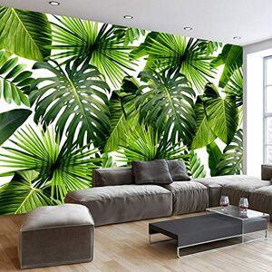 YKCKSD Papier Peint Mural 3D De L'Asie Du Sud-Est, Jungle Tropicale, Feuille De Bananier, Photo D'Arrire-Plan, Peintures Murales De Papier Peint, Papier Peint Moderne Tailles Personnalisées(W)400x(H)280cm - Publicité