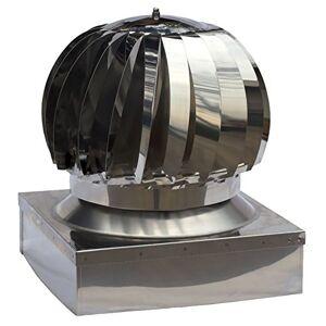 UTIL.FER Extracteur de fumées rotatif éolien en acier inoxydable, base carrée, chapeau de cheminée, toutes dimensions - Publicité